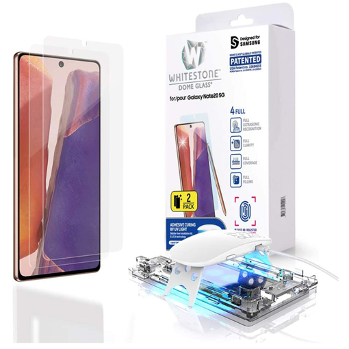 Picture of Samsung Galaxy Note 20 Screen Protector [Dome Glass] Full 3D Curved Edge Tempered Glass Shield
